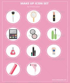 Buy Flat Make-Up Vector Icons by riles on GraphicRiver. This pack features 11 Premium flat style vectorized Make-Up icons. Mascara, Eyeliner, Eyeshadow, Flat Ui, Flat Icons, Flat Style, Pictogram, Blow Dry, Fashion Flats