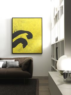 Painting for sale on Etsy - https://www.etsy.com/it/listing/208821938/segni-neri-su-fondo-giallo?ref=shop_home_active_5