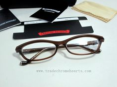 9ea2b720ed1 Chrome Hearts Black Tan Grey Love Mustard Eyeglasses On Sale Color  BTH.  Frame Color