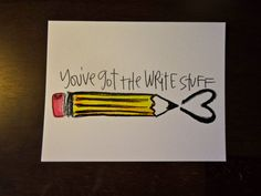 You've got the Write Stuff. Postcard via Etsy.