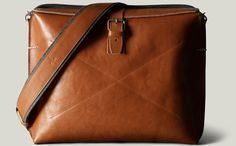 The Work Satchel premium leather tablet bag by Hard Graft for $727