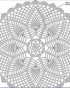 Crochet Thread Patterns, Crochet Stitches For Beginners, Crochet Mandala Pattern, Crochet Diagram, Crochet Squares, Crochet Designs, Crochet Dollies, Crochet Gifts, Crochet Flowers