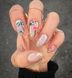 Image result for palm tree nails