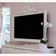 Petite Paris TV Frame, love this in my little girls room