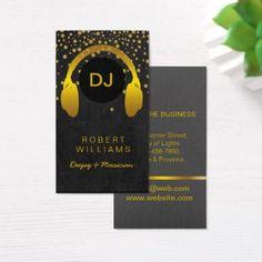 DJ Musician Professional Music Teacher Headphone Business Card - professional gifts custom personal diy