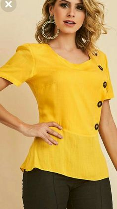 Kurti Neck Designs, Blouse Designs, Simple Outfits, Casual Outfits, Cancun Outfits, Fashion Pants, Fashion Outfits, Stitch Fix Outfits, Western Dresses