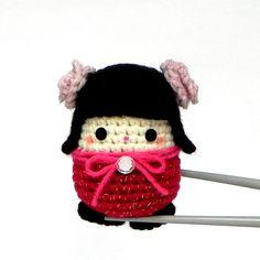 Amigurumi kokeshi mini size doll  Hana MochiQtie  от MochiQtie, $20.00