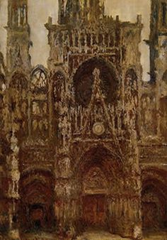 """Claude Monet The Portal of Cathedral of Rouen Cathedral, harmony in brown""""1892"""