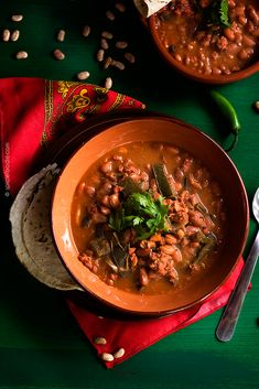 Mexican Charro (Cowboy) Beans with A Twist  | #beans #stew #spicy #LonganizaSausage