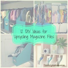 12 DIY Ideas for Upcycling Magazine Files