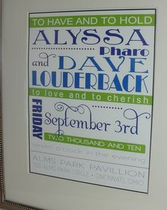 I like poster type of invitations