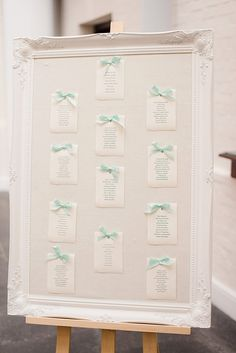 Ornate Frame Table Plan | Classic Wedding at Botleys Mansion Surrey | Mint & Gold Colour Scheme | Minted Stationery | Faye Cornhill Photography | http://www.rockmywedding.co.uk/alice-gareth/