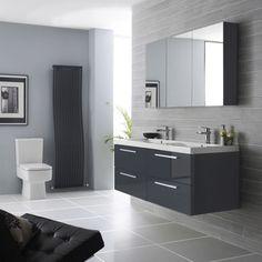Ensemble Meubles de salle de bains Double Vasque Kervignac - Image 1
