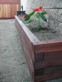 looking at building some wood planter boxes around the back porch.