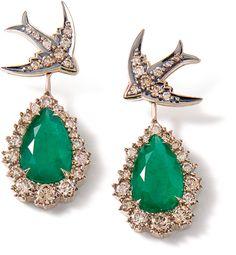H.Stern - Rock Season - Emerald & Diamond earrings