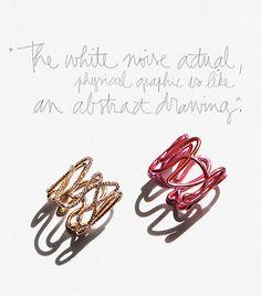 White Noise: Gaia Repossi, rings, earrings, bracelets, jewelry, gold, diamonds / Garance Doré