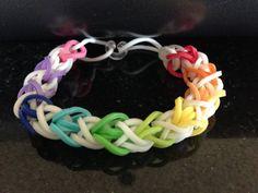 Rubber Band Bracelet - Glow in the Dark Double Diamond