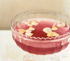 Rose Spritzer served in punch bowl