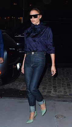 The designer, Victoria Beckham, proved the power of keeping things simple for nighttime in New York City.