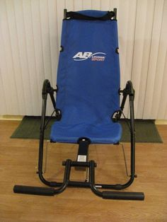 AB Lounge Sport Exercise Equipment Core Workout Fitness Quest Blue w/ Manual CD #FitnessQuest