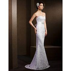 trompeta / sirena matura dragă / perie dantelă rochie de mireasa – EUR € 118.17
