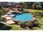 Freeform Pools | Cody Pools | Pool Builders, Austin, Dallas/Ft.Worth, San Antonio and Houston  Bland - freeform, water sheer, sundeck, bench, tanning ledge, flagstone, Pebble Sheen, spa