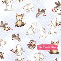 Future Quilt:   Beth Logan - Snow Babies Flannel Blue Animal Print Yardage SKU# F9541-11