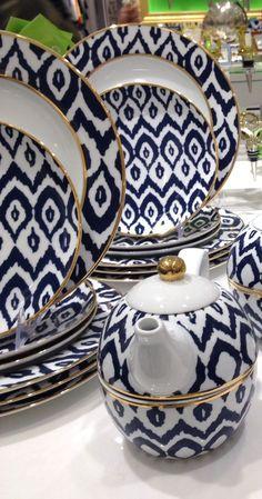#ikat print dish set. #beauty