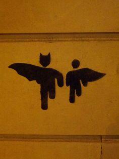 Batman & Robin #Streetart #Paris #urbacolors