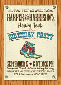 Honky Tonk party invitation