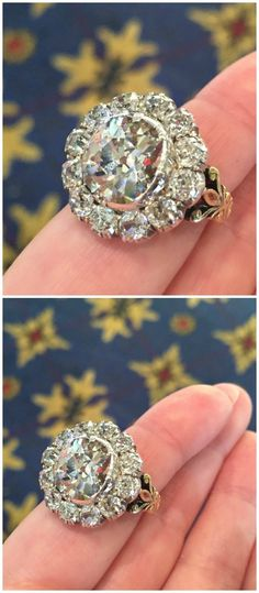 A stunning Victorian diamond cluster ring from Humphrey Butler.