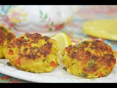 [ ASIAN & HEALTHY FOOD RECIPES ] Curry Crab Cakes with Basil, Capers & Red Bell Pepper #recipe #AsianFood #video #videorecipe #videorecipes