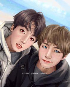 #Kpop #Bts #V #Jungkook #Vkook #FanArt