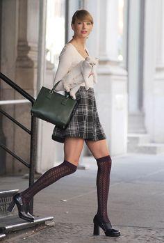 Taylor Swift à la sortie de son appartement à New York