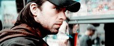 Bucky (Sebastian Stan) in Bucharest.  Scene from Captain America: Civil War. (GIF)