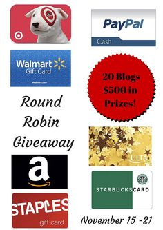 $500 in Prizes Black Friday Giveaway 11/15 - 11/21 #Round Robin DONT MISS