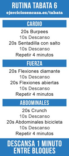 1000 images about entrenamientos tabata on pinterest tabata ideas para and excercise - App entrenamiento en casa ...