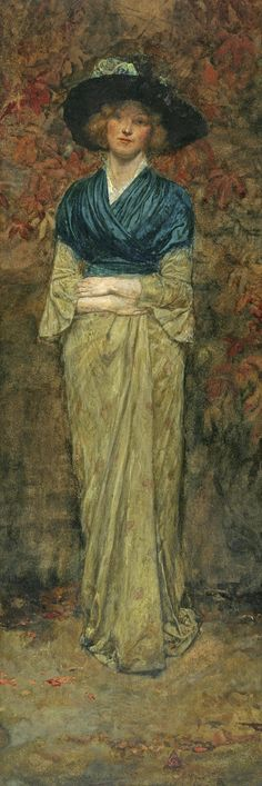 Portrait Of A Woman In A Blue Shawl, by George Henry Boughton (English-born American 1833 - 1905)