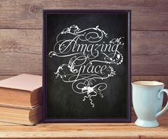 "Chalkboard ""amazing Grace"" nice idea for the hallway entrance"