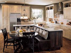 20 Beautiful Kitchen Islands With Seating | Wood design, Beautiful ...
