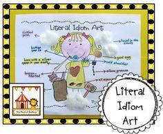Literal idiom art activity...my kiddos LOVE it!