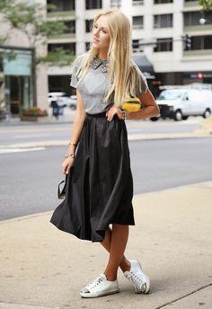 como usar tenis com saia e vestido - Pesquisa Google