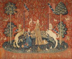 La Dame à la licorne, Le Goût. Wool and silk tapestry woven in Flanders from designs drawn in Paris, late 15th century, Musée de Cluny