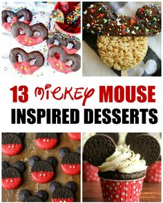 13 Fun Mickey Mouse Inspired Treat Ideas - Snacks To Pack for Disney Parks - Disney Disney Desserts, Disney Party Foods, Disney Themed Food, Disney Inspired Food, Disney Snacks, Disney Parties, Disney Recipes, Mickey Mouse Snacks, Mickey Mouse Cupcakes