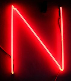 the letter n by lite brite neon via flickr
