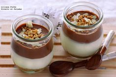 Two chocolate pots Chocolate Pots, Chocolate Brownies, Chocolate Desserts, Chocolate Lovers, Pastel Chocolate, Sweets Recipes, My Recipes, Favorite Recipes, Food N