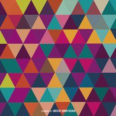 Triángulo de mosaico de colores de fondo
