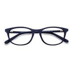 9a2690eb2838 Valentin Navy Acetate Eyeglasses from EyeBuyDirect. Exceptional style