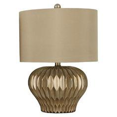 Silver Leaf Accordion Lamp