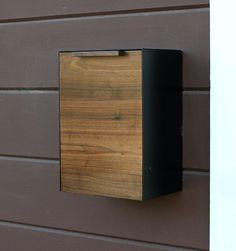 Moderne Briefkasten, Walnuss Wand Briefkasten, schmale Größe